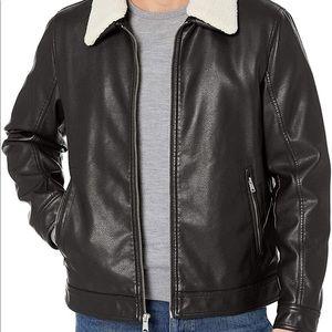 Tommy Hilfiger Faux Leather Jacket black